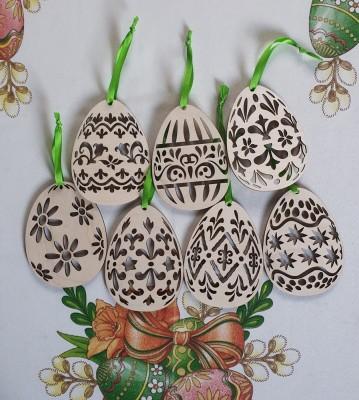 Velikonoční vajíčka dřevěná 7 ks