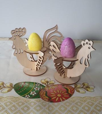 Velikonoční stojánky na vajíčka Kohoutek a slepička sada 2 ks