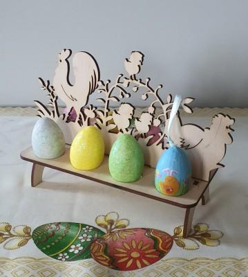 Velikonoční stojánek na vajíčka Kohoutek a slepička