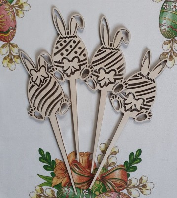 Velikonoční zápichy ušatá vajíčka sada 4 ks