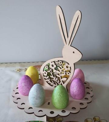 Velikonoční stojánek na vajíčka Zajíc