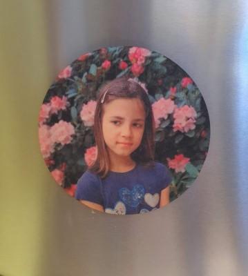Magnetka kulatá dřevěná velká s Vaší fotografií