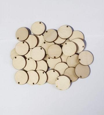 Dřevěné kolečka s dírkou balení 30 nebo 50 ks