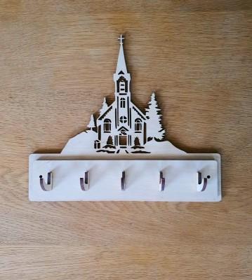 Věšák na klíče, věšák na utěrky Kostel