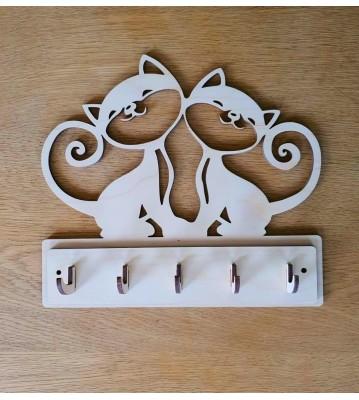 Věšák na klíče, věšák na utěrky Kočky