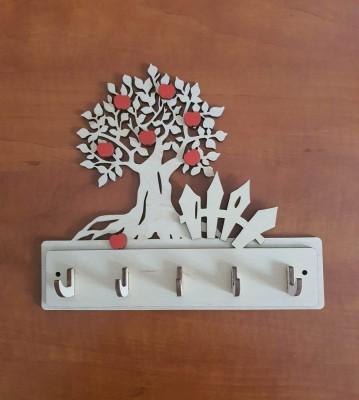 Věšák na klíče, věšák na utěrky Strom s jablky plot