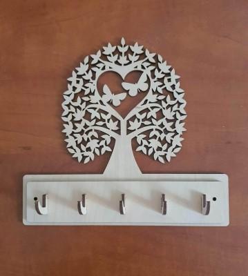 Věšák na klíče, věšák na utěrky Strom s motýly