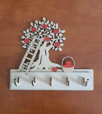 Věšák na klíče, věšák na utěrky Strom s žebříkem