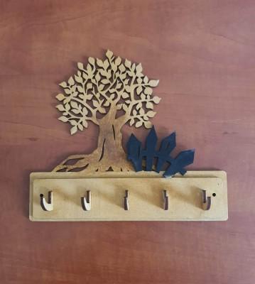 Věšák na klíče, věšák na utěrky Strom s plotem