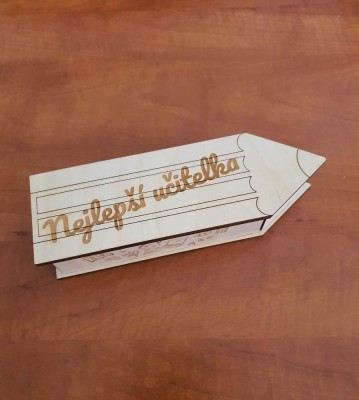 Krabička Pro učitelku s vlastním nápisem