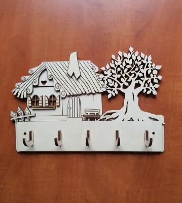 Věšák na klíče, věšák na utěrky Chaloupka se stromem
