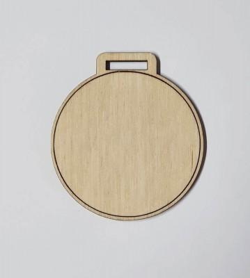Medaile dřevěná kulatá lem polotovar , balení 30 ks nebo 50 ks