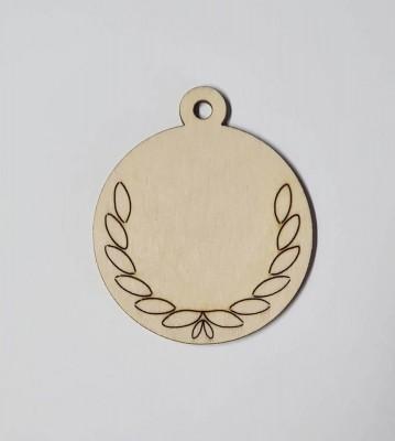 Medaile dřevěná kulatá vzor 1 polotovar , balení 30 ks nebo 50 ks