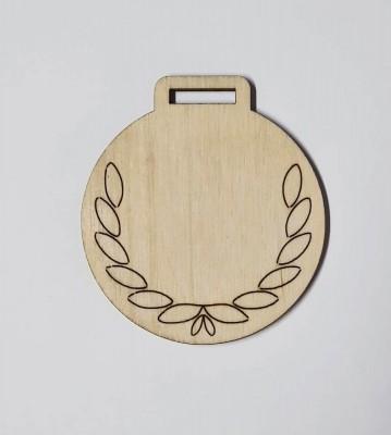 Medaile dřevěná kulatá vzor 2 polotovar , balení 30 ks nebo 50 ks