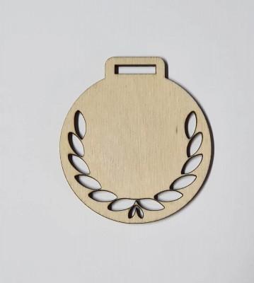 Medaile dřevěná kulatá vzor 3 polotovar , balení 30 ks nebo 50 ks