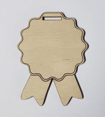 Medaile dřevěná se stuhou polotovar , balení 30 ks nebo 50 ks