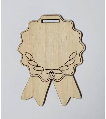 Medaile dřevěná se stuhou vzor polotovar , balení 30 ks nebo 50 ks