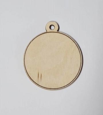 Medaile dřevěná kulatá lem vzor polotovar , balení 30 ks nebo 50 ks