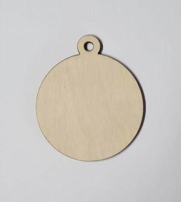 Medaile dřevěná kulatá čistá polotovar , balení 30 ks nebo 50 ks