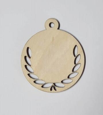 Medaile dřevěná kulatá vzor 5 polotovar , balení 30 ks nebo 50 ks