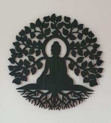 Dřevěný Strom života Budha