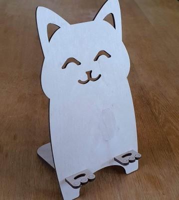 Stojánek na mobil Kočka mžourající