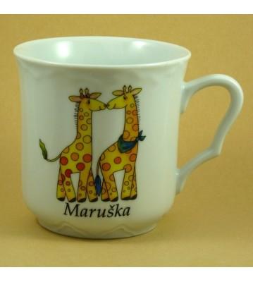 Dětský hrnek větší se jménem pro holky i kluky Žirafy