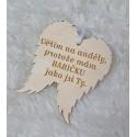 Křídla anděla Věřím na anděly pro babičku