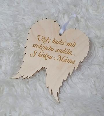 Křídla anděla Vždy budeš mít anděla Máma