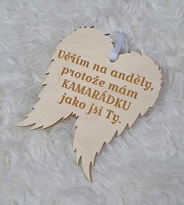 Křídla anděla Věřím na anděly, pro kamarádku