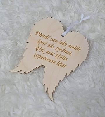 Křídla anděla Přátelé jsou jako andělé
