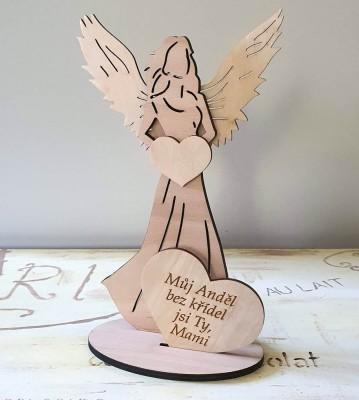 Anděl s citátem Můj anděl jsi Ty mami