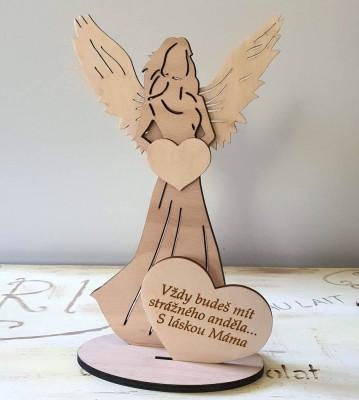 Anděl s citátem Vždy budeš mít strážného anděla Máma