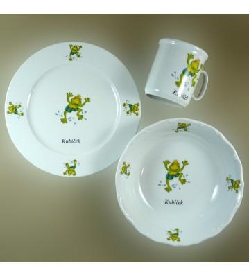 Dětská porcelánová sada 3 ks Žabka