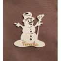 Vánoční dekorace sněhulák se jménem