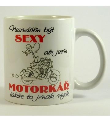 Hrnek sexy motorkář