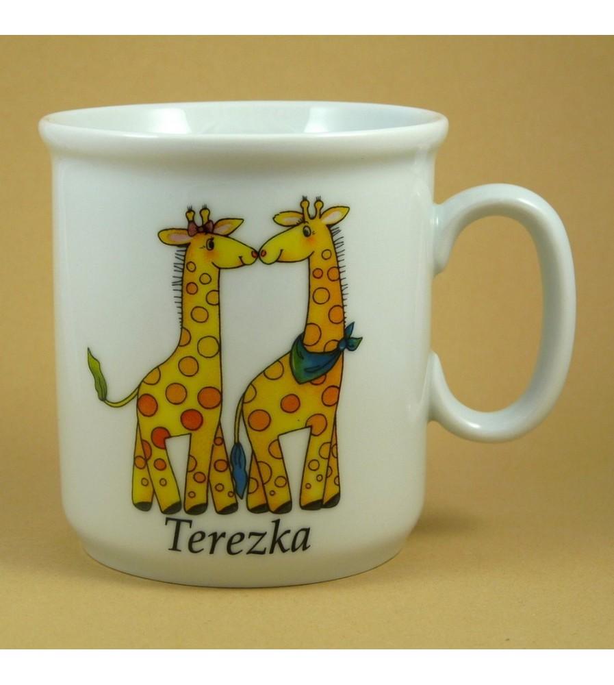 Dětský hrnek se jménem pro holky i kluky Žirafy