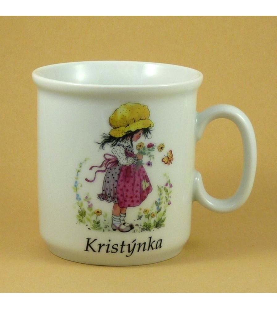 Dětský porcelánový hrnek se jménem pro holky